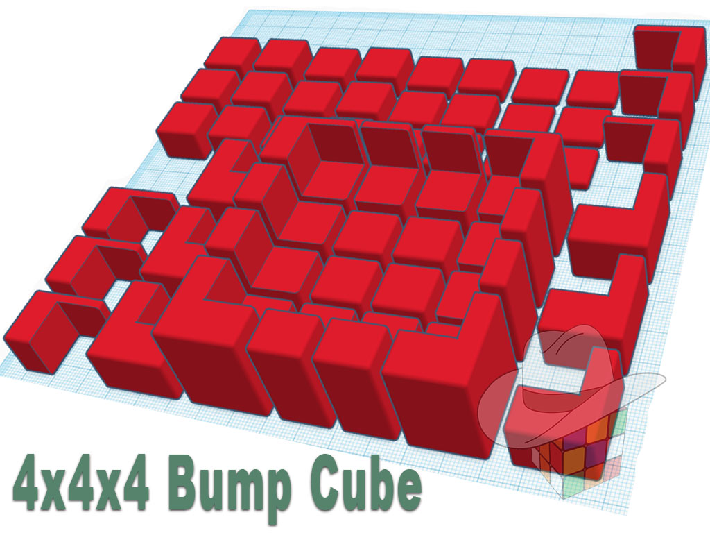 4x4x4 Bump Cube 3D Printed Extensions